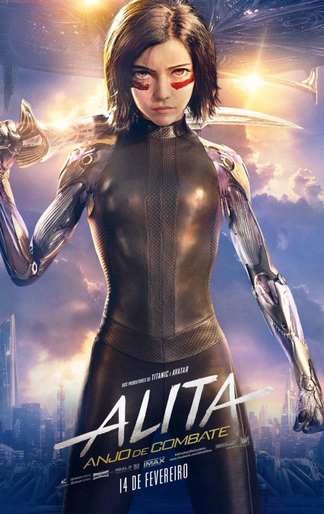 alita anjo de combate poster 647x1024 - Alita: Battle Angel - Novo pôster mostra os principais atores do filme