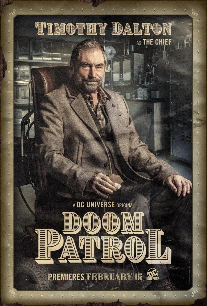 doompatrol chief 691x1024 - Patrulha do Destino - Revelado o primeiro teaser da série