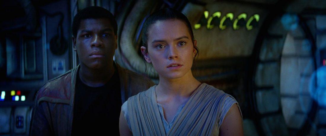 Finn e Rey em O Despertar da Força