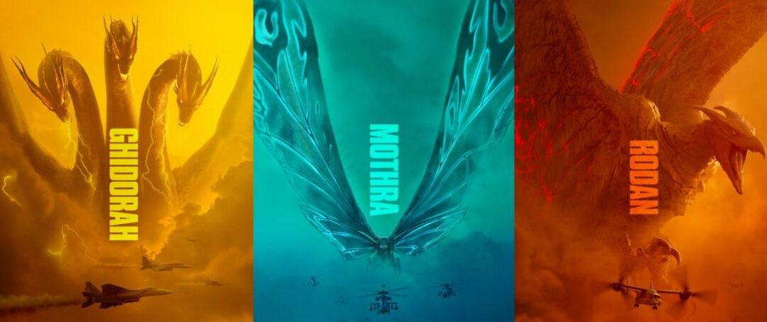 Mike Dougherty, diretor de Godzilla: Rei dos Monstros, libera os posters de Ghidorah, Mothra e Rodan