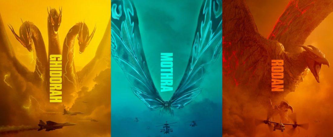 Mike Dougherty, diretor de Godzilla: Rei dos Monstros libera os posters de Ghidorah, Mothra e Rodan