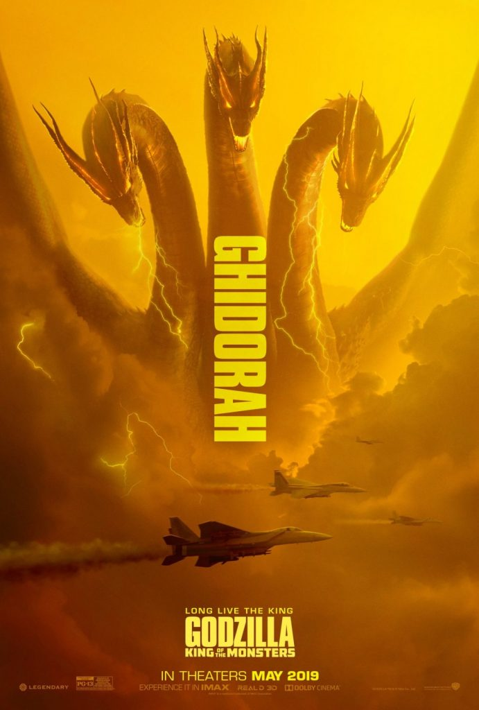 godzilla rei dos mostros ghidorah poster 691x1024 - Mike Dougherty, diretor de Godzilla: Rei dos Monstros, libera os posters de Ghidorah, Mothra e Rodan