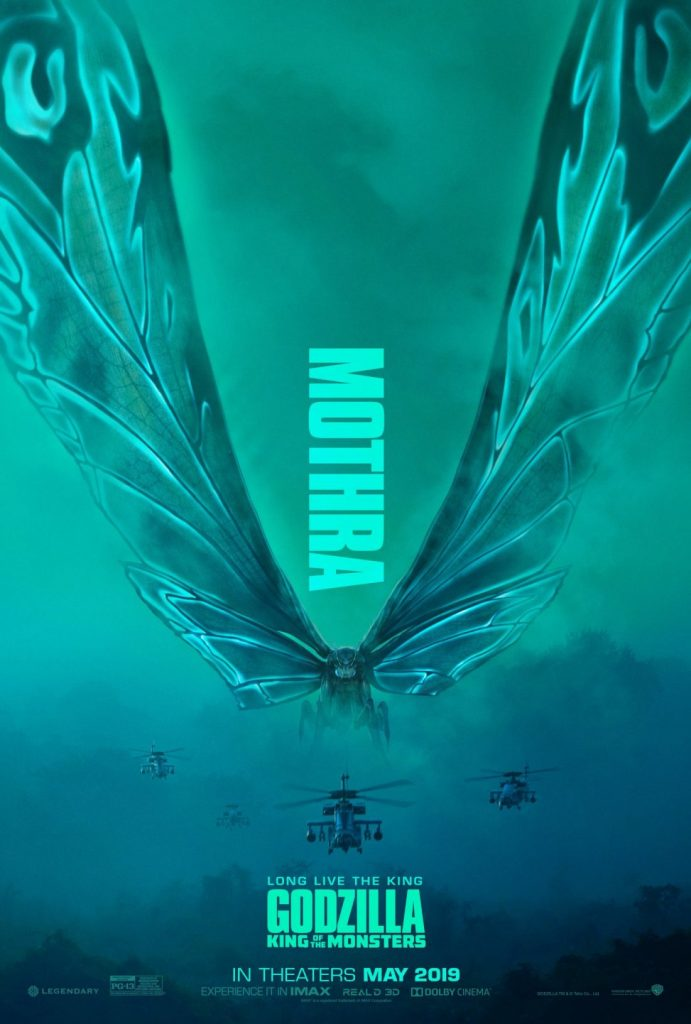 godzilla rei dos mostros mothra poster 691x1024 - Mike Dougherty, diretor de Godzilla: Rei dos Monstros, libera os posters de Ghidorah, Mothra e Rodan