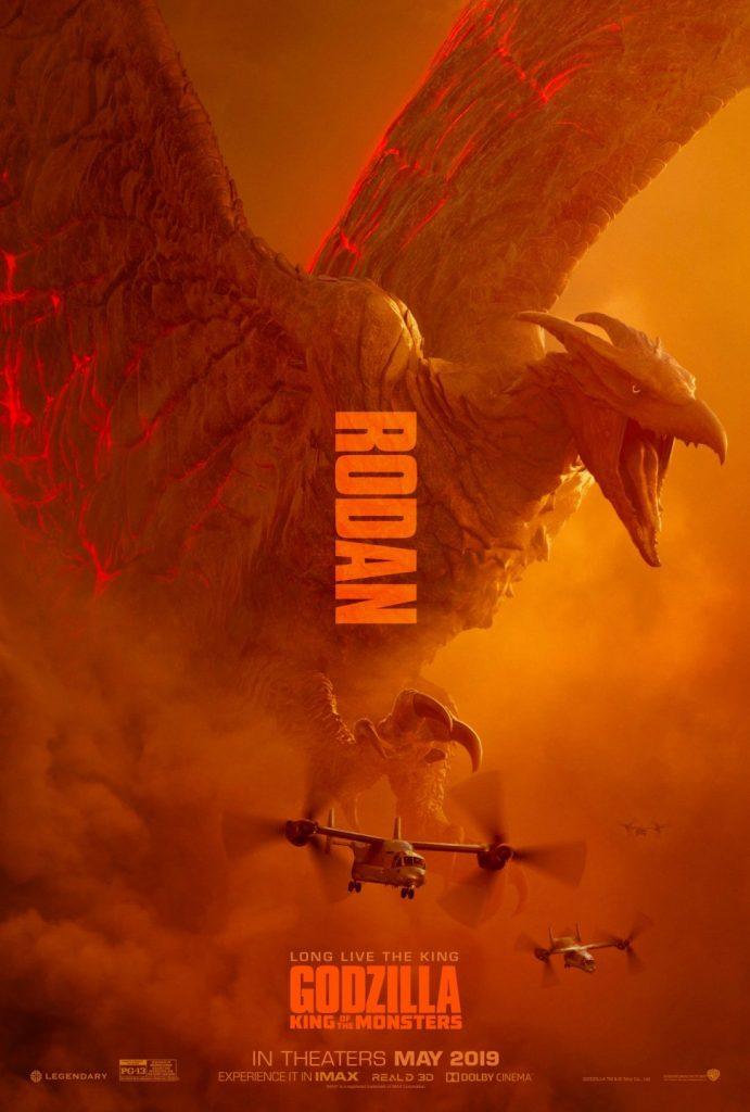 godzilla rei dos mostros rodan poster 691x1024 - Mike Dougherty, diretor de Godzilla: Rei dos Monstros, libera os posters de Ghidorah, Mothra e Rodan