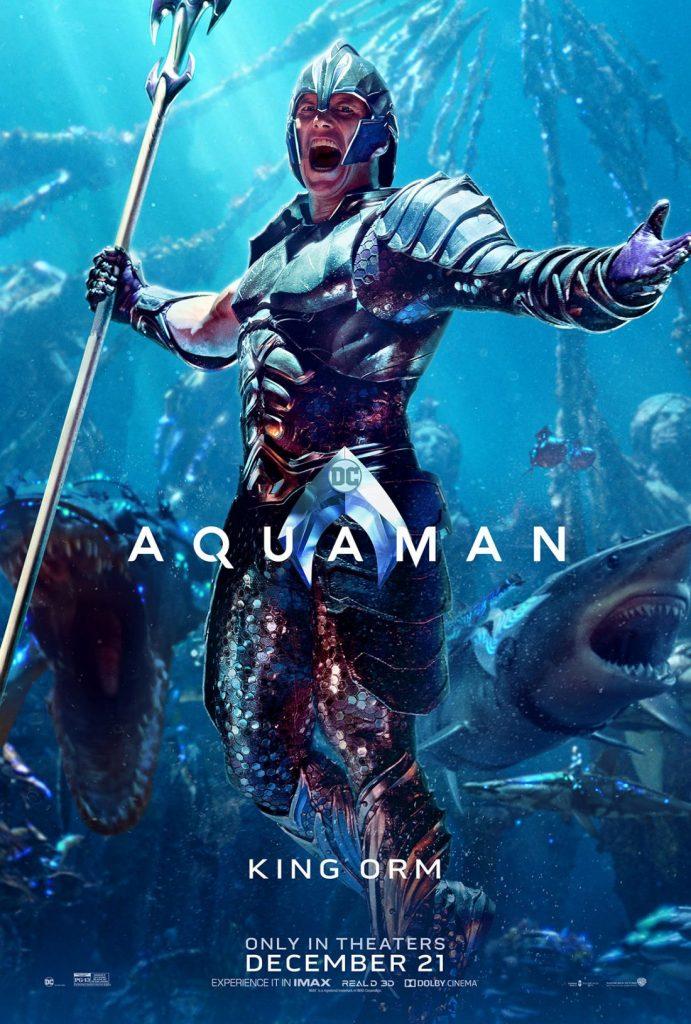 poster king orm 691x1024 - Aquaman tem estreia grandiosa na China, e a Warner Bros. já está planejando uma sequência.