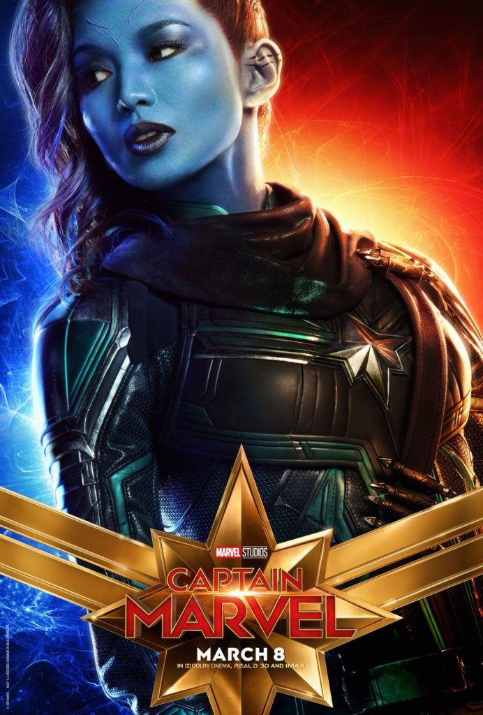 Capitã Marvel - Gemma Chan como Minn-Erva