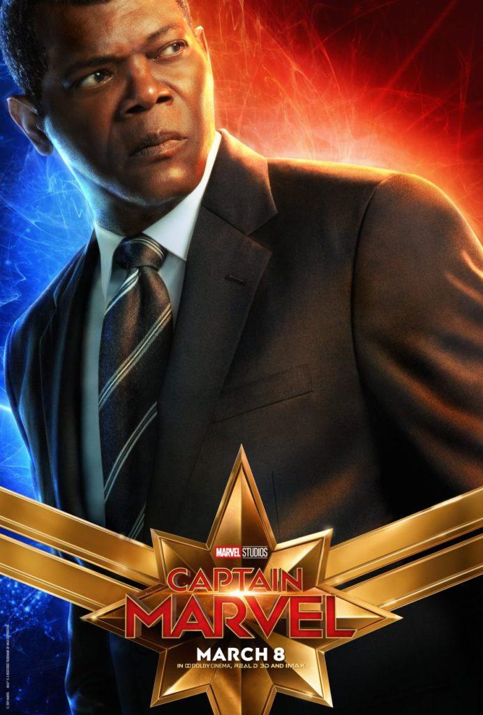 Capitã Marvel - Samuel L. Jackson como Nick Fury