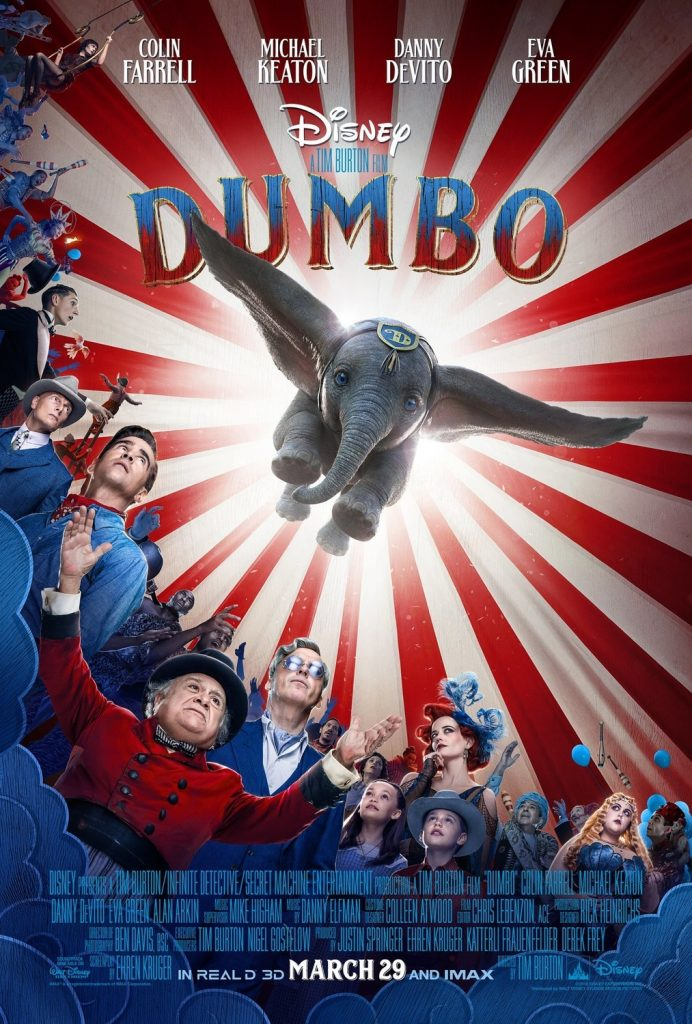 dumbo 2019 poster1 692x1024 - Lançado o Teaser de Ano Novo da Disney 'Dumbo', de Tim Burton