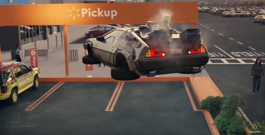 grocery pickup famous cars wallmat de volta para o futuro - Carros famosos da cultura pop vão às compras em comercial incrível do Walmart