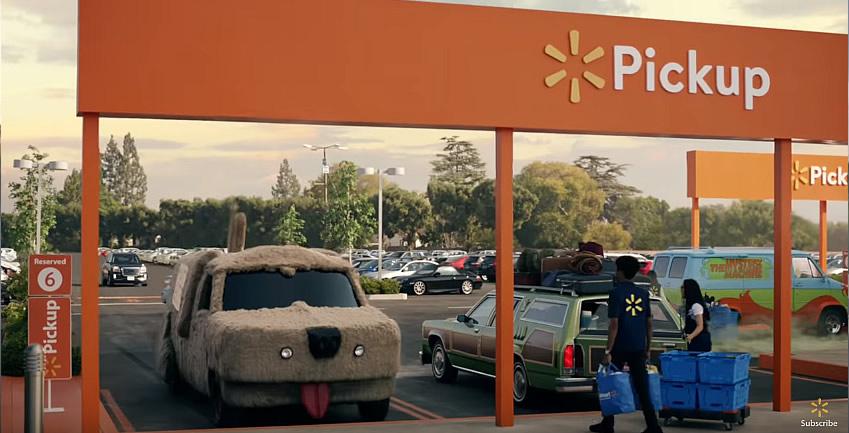 grocery pickup famous cars wallmat dumb dumber - Carros famosos da cultura pop vão às compras em comercial incrível do Walmart
