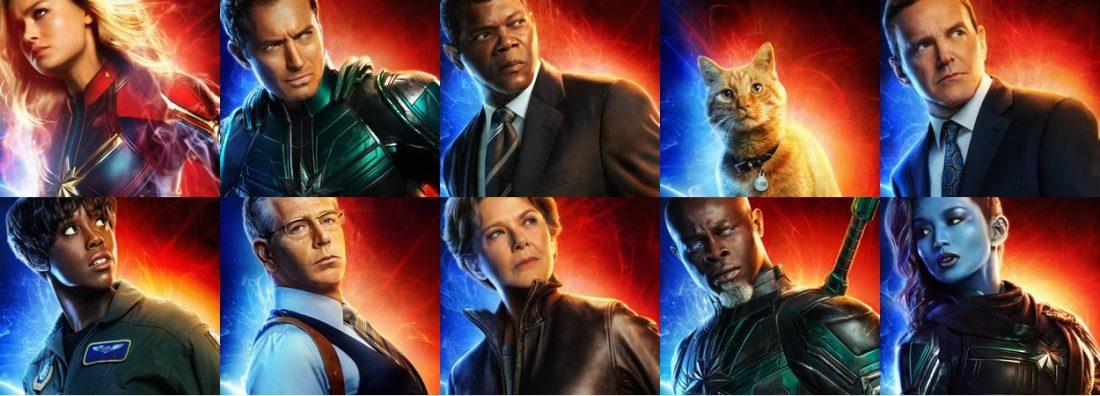 Marvel libera 10 novos caracteres dos personagens de CAPITÃ MARVEL