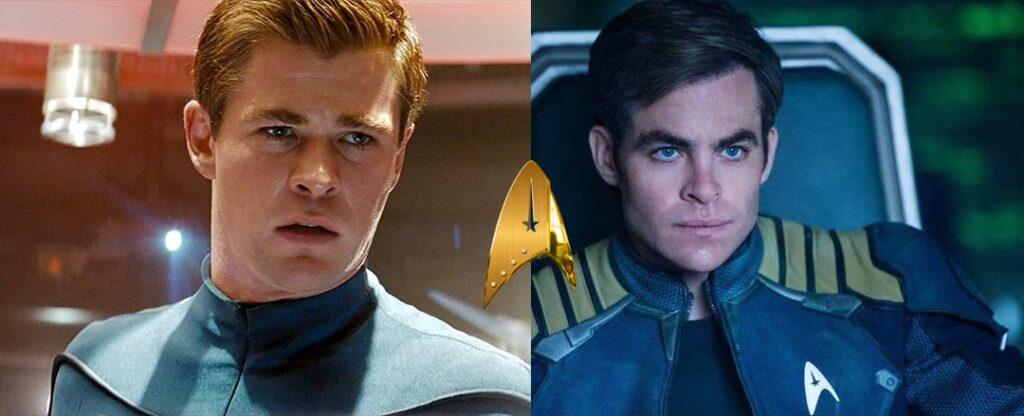 Chris Hemsworth - George Kirk e Chris Pine - Cap Kirk