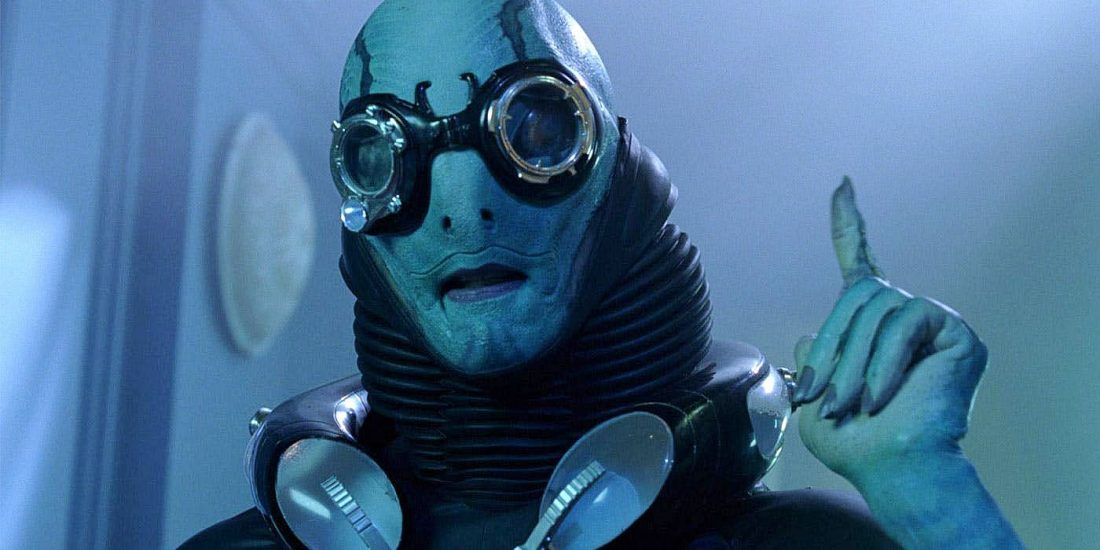 Doug Jones interpretou o papel de Abe Sapien no filme de Hellboy, Hellboy II: The Golden Army, do diretor Guillermo del Toro
