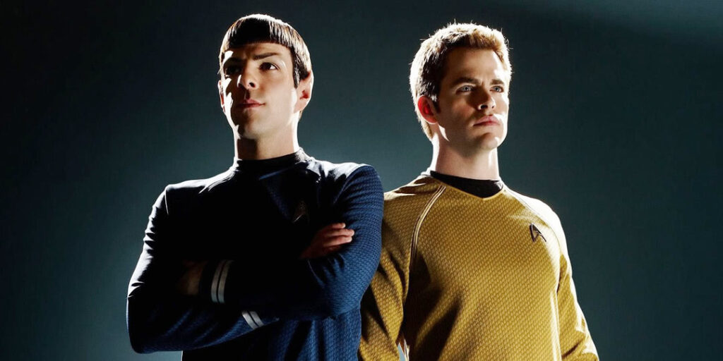 Spock - Zachary Quinto e Capitão Kirk - Chris Pine