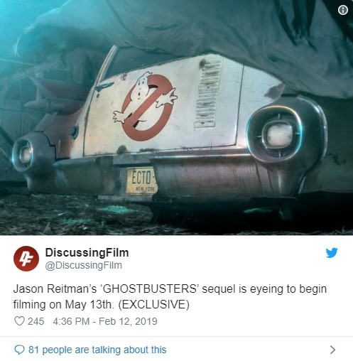 GHOSTBUSTERS 3 - Diretor Jason Reitman está se preparando para começar a filmar neste verão