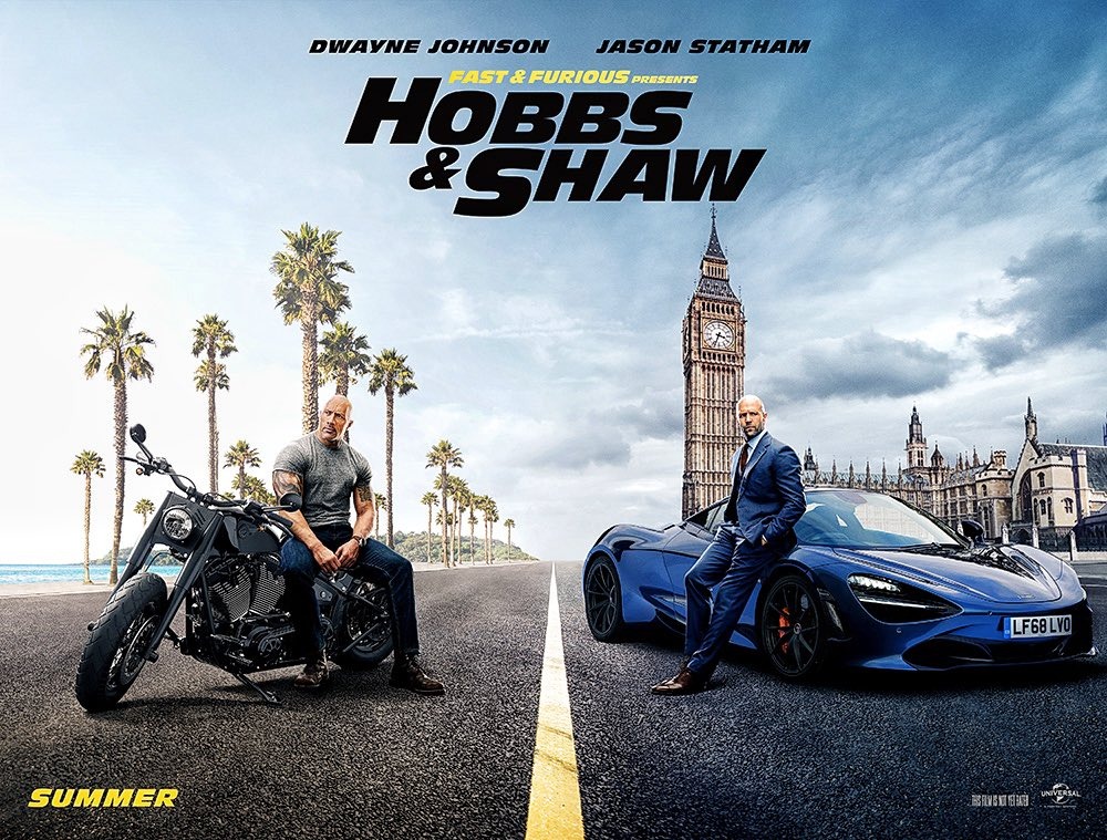 FAST & FURIOUS PRESENTS: HOBBS & SHAW - Trailer empolgante da dupla Dwayne Johnson e Jason Statham