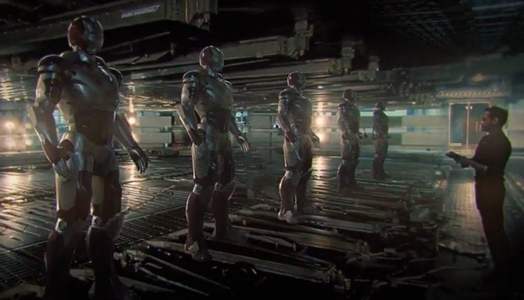 arte conceitual tony stark criando armaduras 1024x587 - Vingadores: Ultimato - Teorias apontam que Tony Stark poderia recriar Ultron para derrotar Thanos