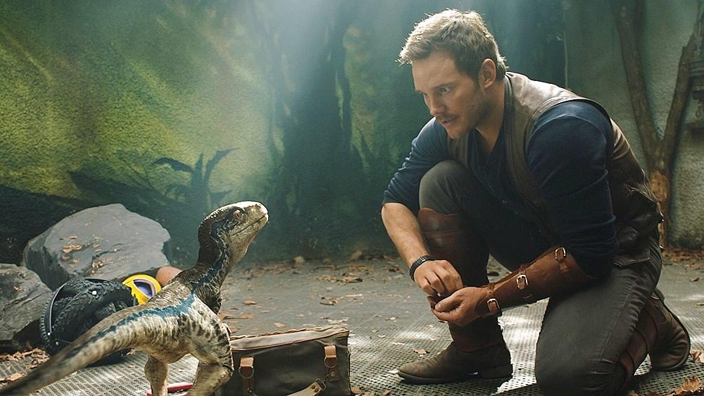 Chris Pratt e Blue - Jurassic World