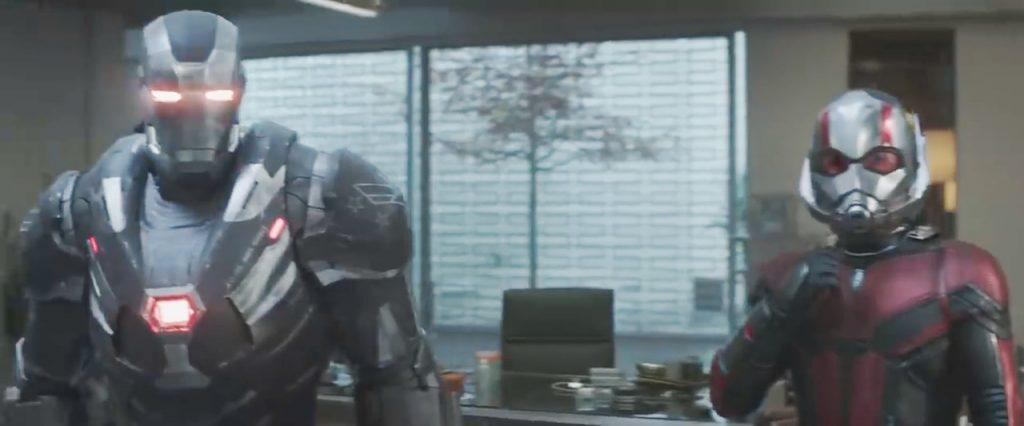 vingadores ultimato maquina de combate homem formiga 1024x426 - Vingadores: Ultimato – Detalhes do trailer revelam dicas do que os Vingadores terão que enfrentar