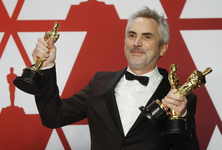 """O cineasta mexicano Alfonso Cuarón venceu o Óscar de melhor realizador, pelo filme """"Roma"""", na 91.ª edição dos prémios da Academia das Artes e Ciências Cinematográficas, dos Estados Unidos"""