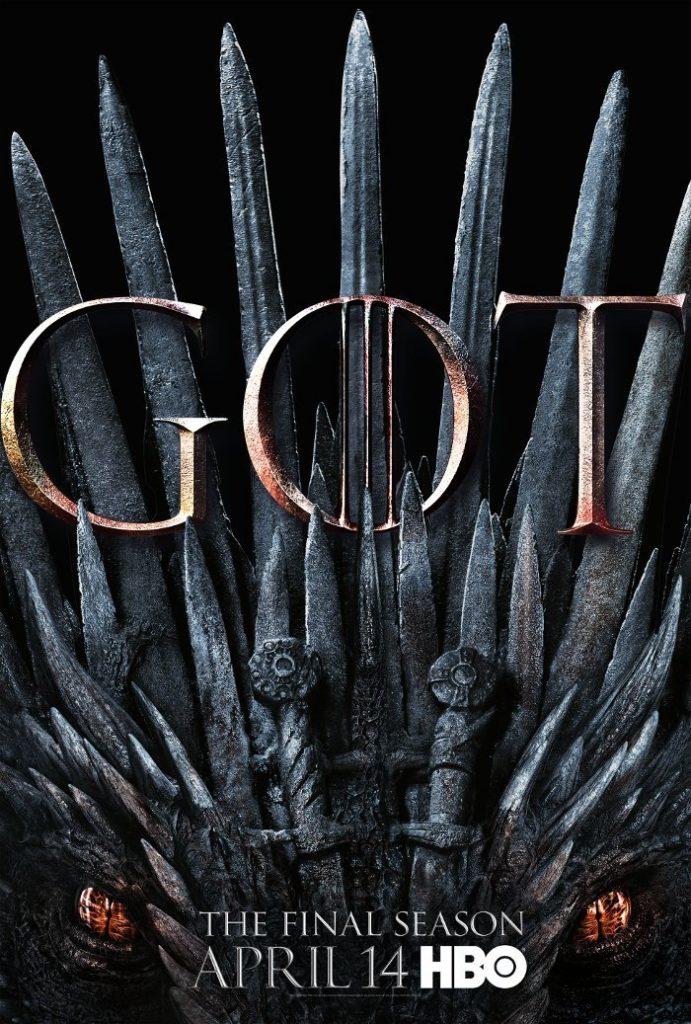 game of thrones temporada 8 poster 691x1024 - Game of Thrones - Oitava temporada tem poster do trono de ferro de dragão