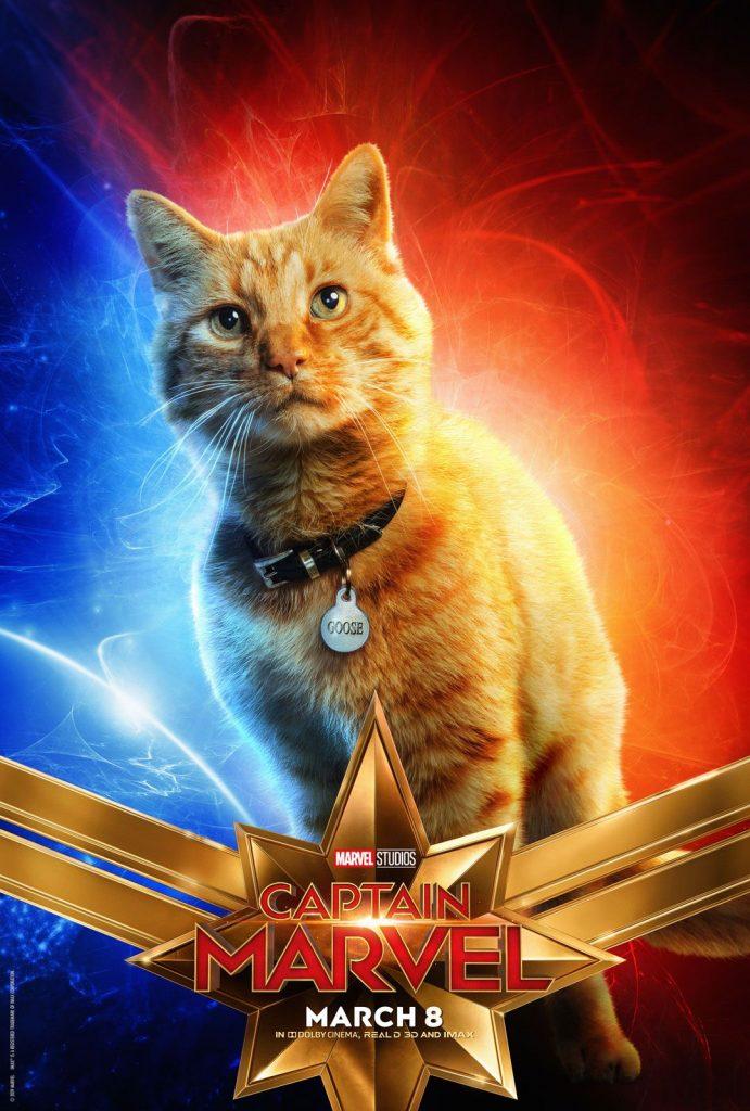 A gata GOOSE - Capitã Marvel