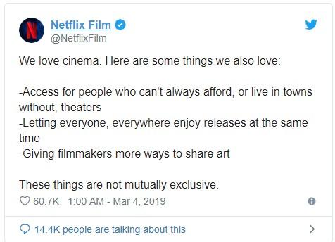Netflix responde a reação de Steve Spielberg