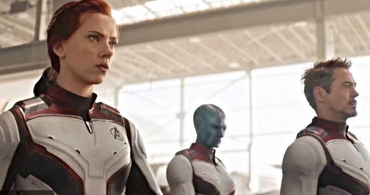 Vingadores: Ultimato - Viúva Negra, Tony Stark e Nebulosa com os novos trajes espaciais