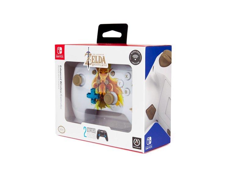 PowerA Controle Princesa Zelda - Embalagem Frente - Nintendo Switch