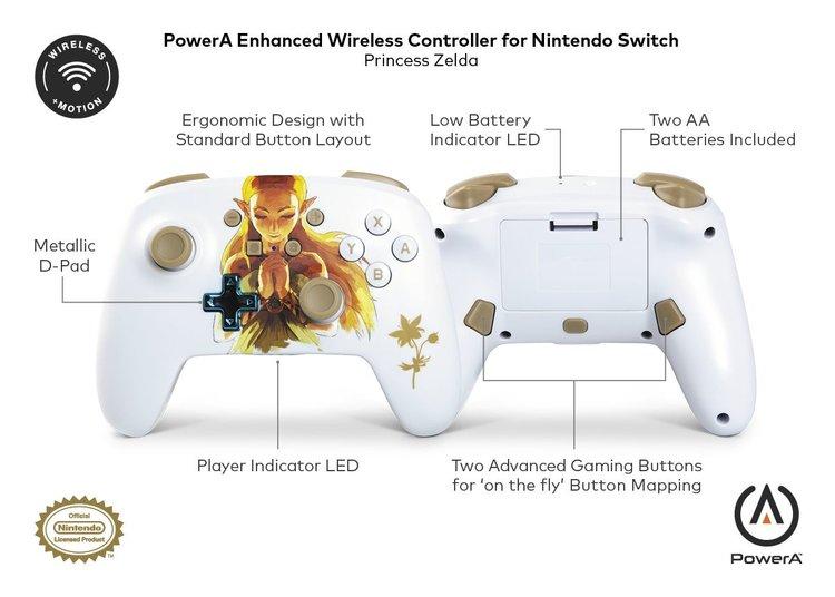 PowerA Controle Princesa Zelda - Especificações - Nintendo Switch