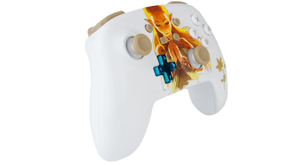 PowerA Controle Princesa Zelda - Vista Perspectiva - Nintendo Switch