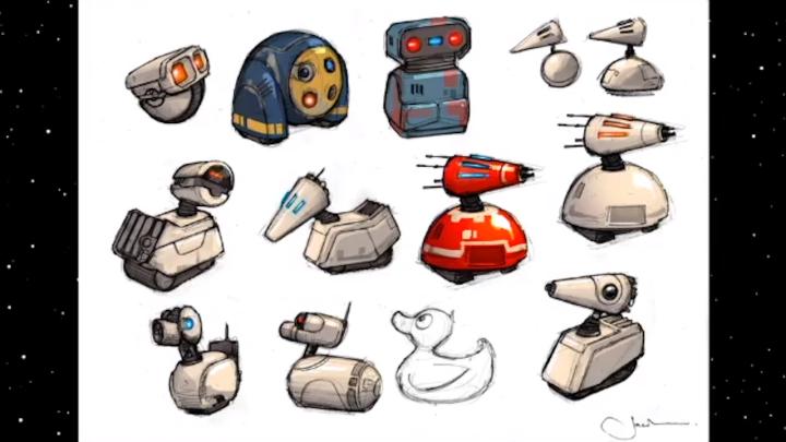 Star Wars Episodio IX arte conceitual droid D 0 - STAR WARS: A ASCENSÃO SKYWALKER | Apresenta o novo droid D-0