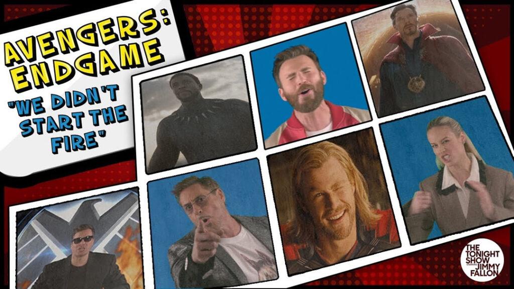 Vingadores: Ultimato | Elenco canta resumo da saga e homenageia Stan Lee - Jimmy Fallon