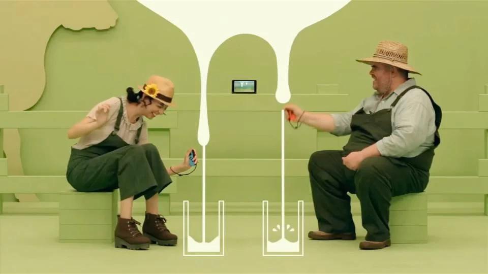 HD Rumble dando sensação de ordenhar vacas no jogo MILK - Nintendo Switch