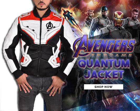 Jaqueta QUANTUM, da Ultimate Jackets, inspirada em Vingadores Ultimato
