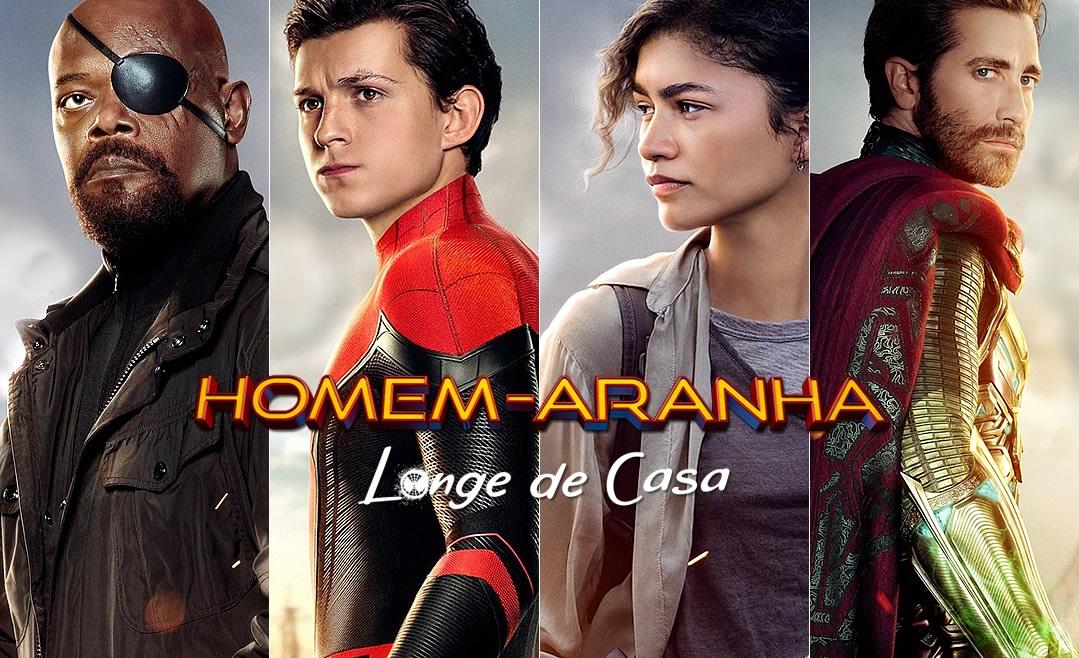 Homem-Aranha: Longe de Casa | Pôsters com Homem-Aranha, Nick Fury, Mystério e MJ