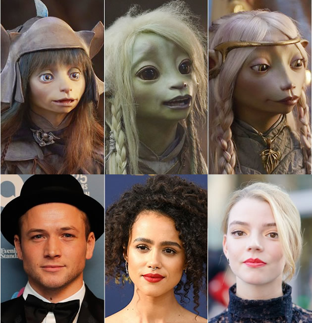 O Cristal Encantado: A Era da Resistência - Rian - Taran Egerton (Kingsman),  Deet - Nathalie Emmanuel (Game of Thrones), Brea - Anya Taylor Joy (A Bruxa)