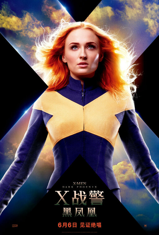 X Men Fenix Negra Sophie Turner Jean Grey - X-Men - Fênix Negra | Jean Grey e Fênix em novos posters