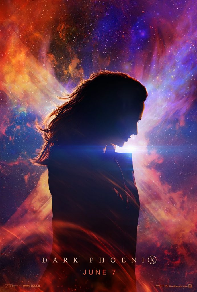 X Men Fenix Negra Sophie Turner poster 692x1024 - X-Men - Fênix Negra | Jean Grey e Fênix em novos posters