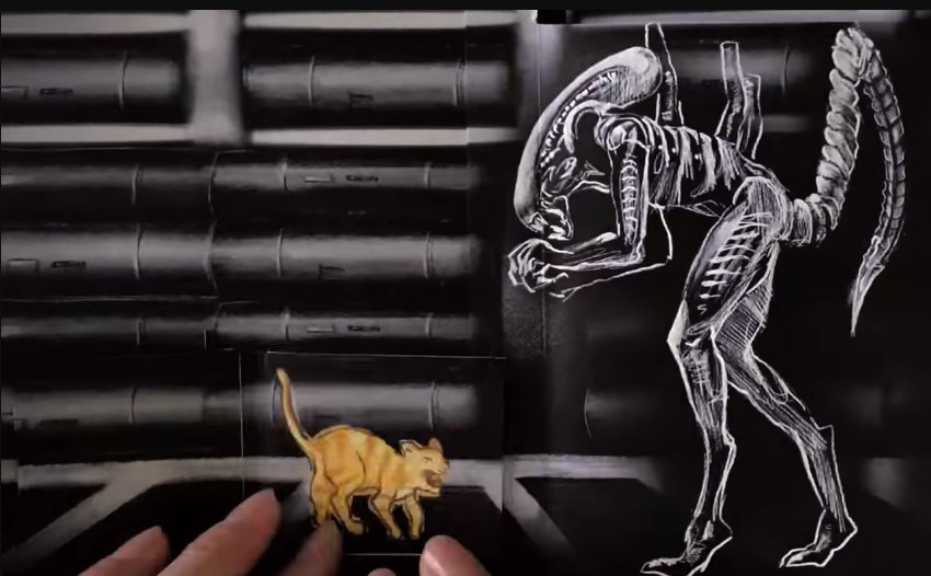 Alien o Oitavo Passageiro | Flipbook animado do filme
