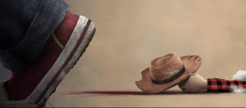 Chucky mata Woody em poster de Brinquedo Assassino