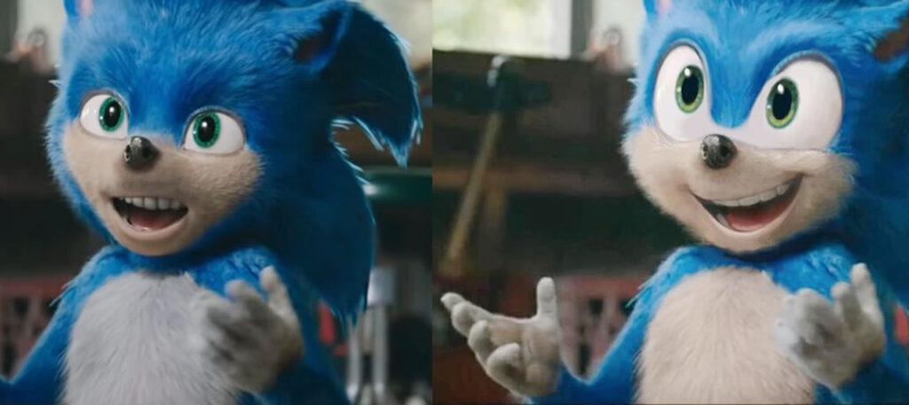 Fão atualiza o visual de Sonic divulgado pelo filme