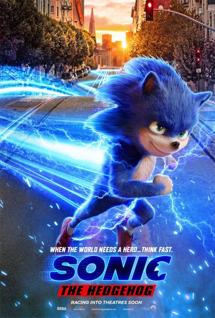 sonic the hedgehog poster 692x1024 - SONIC: O FILME | Após críticas, diretor diz que design do herói será refeito
