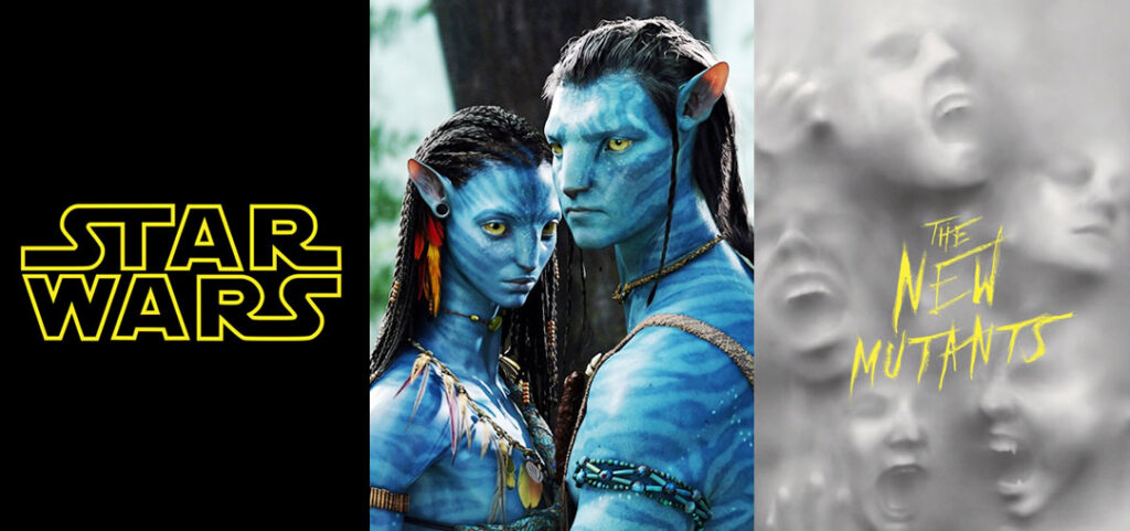 star wars avatar novos mutantes 1024x481 - Disney anuncia datas de filmes de STAR WARS, AVATAR e os Novos Mutantes