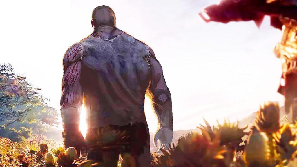 Thanos após o segundo estalar de dedos em Vingadores Ultimato