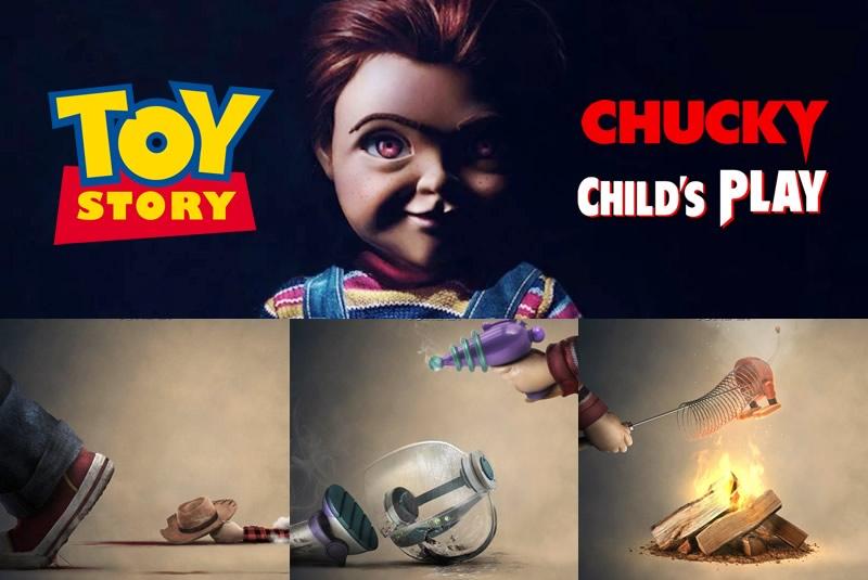 Brinquedo Assassino | Mais posters de Chucky com os personagens de Toy Story