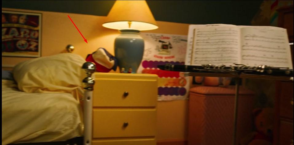 Easter egg do boné de Dustin no quarto da Suzie em Stranger Things 3