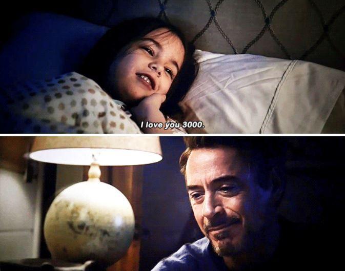 Eu te amo três mil foi ideia de Robert Jr. - Cena Tony Stark e sua filha Morgan