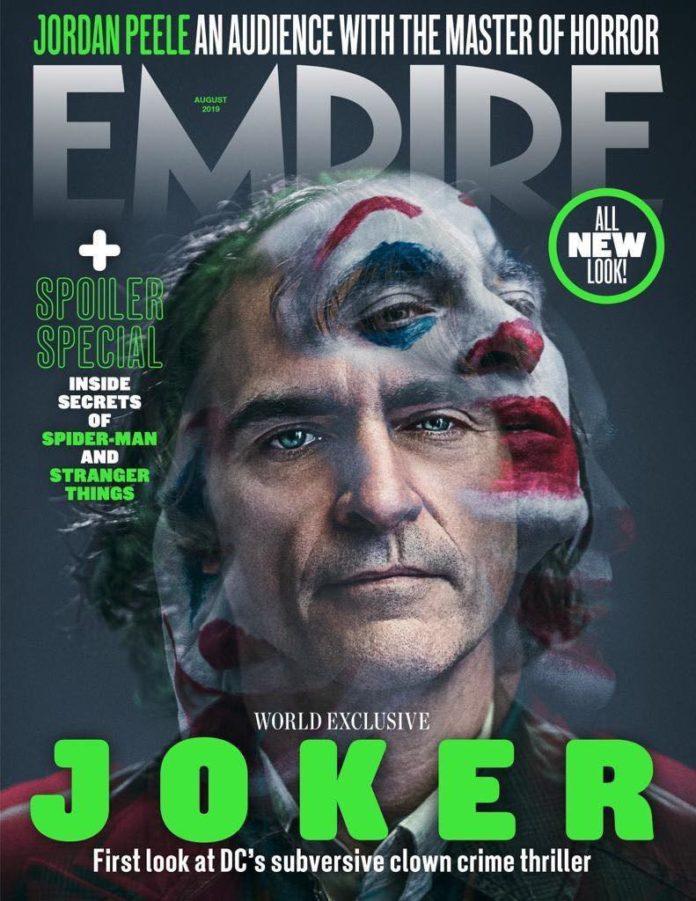 Joaquin Phoenix Coringa Revista Empire - Joaquin Phoenix como Coringa na capa da Revista Empire