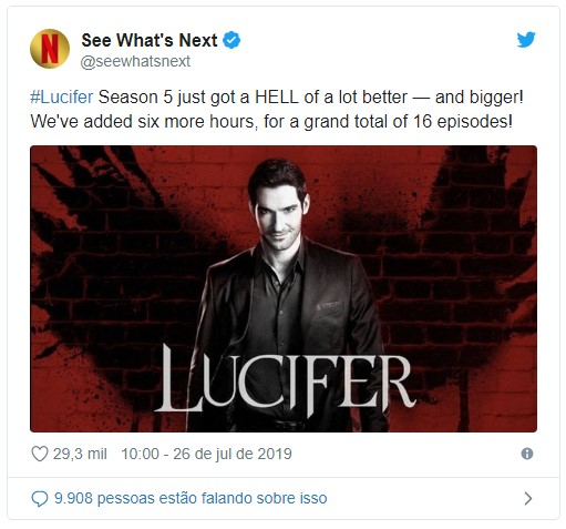 Quinta temporada de Lucifer com 16 episódios